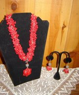 Beautiful Red Coral Necklace Earrings in Ruidoso, New Mexico