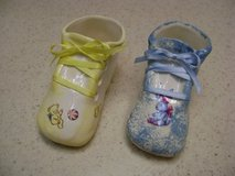 Handpainted Ceramic Baby Shoes in Houston, Texas