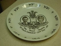 Princess Diana/Prince Charles Commemorative Wedding Plate in Houston, Texas
