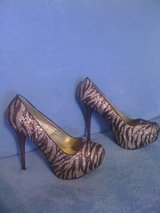 REDUCED!New,sz.8,Super Sexy Sparkly Zebra(Gold & Brown) in Leesville, Louisiana